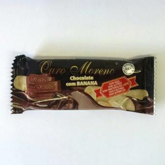 Chocolate com Banana (barrinha de 20g) – Ouro Moreno