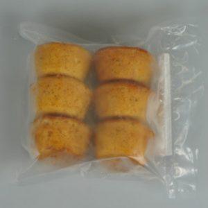 bolinho laranja pacote