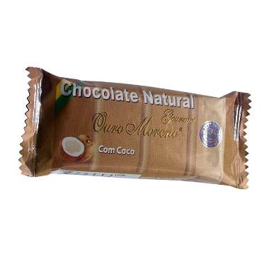 Chocolate com Coco (barrinha de 20g) – Ouro Moreno