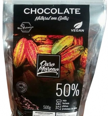 Chocolate Natural Gotas 50% cacau – Ouro Moreno