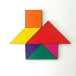 Casinha feita de tangram