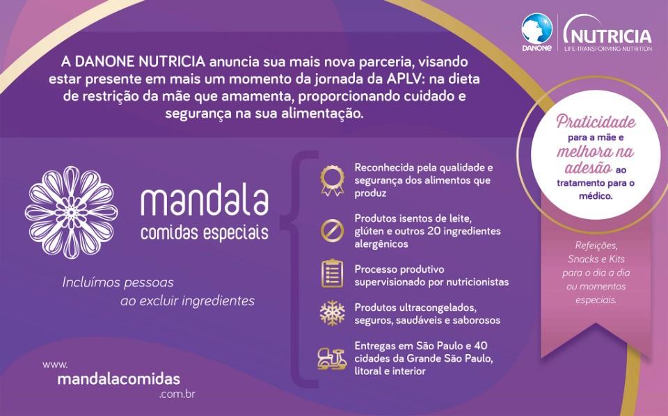 Parceria entre Mandala Comidas e Danone Nutricia