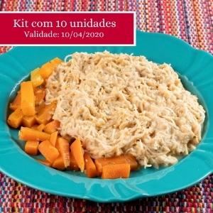 Kit com 10 unidades do macarrão com frango no roti suave, a preço promocional